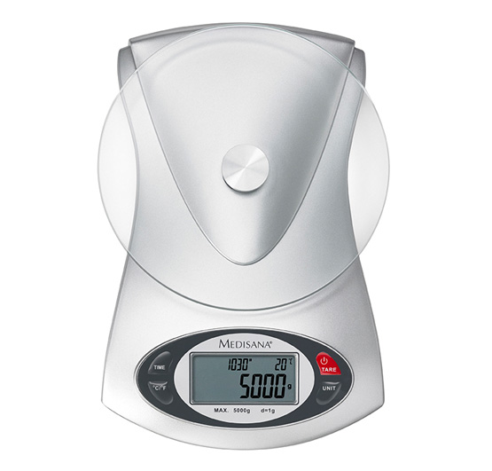 B scula de cocina electr nica de cristal ks 220 - Basculas para cocina ...